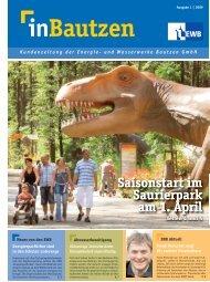 Seiten 4 und 5 Saisonstart im Saurierpark am 1. April Seiten 4 und 5 ...