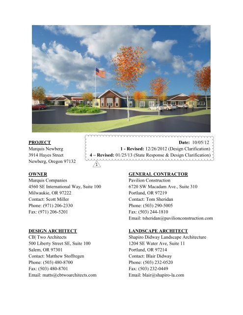 Project Manual Specifications Pavilion Construction