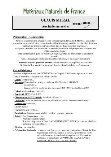 GLACIS MURAL - Matériaux Naturels de France