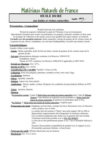 HUILE DURE - Matériaux Naturels de France