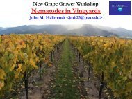 Nematodes in Vineyards - PA Wine Grape Growers Network