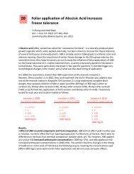 Foliar Application of Abscisic Acid Increases Freeze Tolerance
