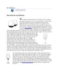 Benchmarks and Glasses - PA Wine Grape Growers Network