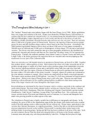 The Pennsylvania Wine Industry in 2011 - PA Wine Grape Growers ...