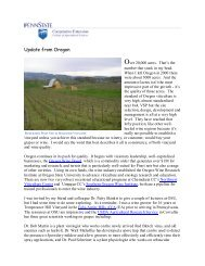 Update from Oregon - PA Wine Grape Growers Network