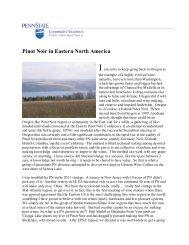 Pinot Noir in Eastern N. America - PA Wine Grape Growers Network