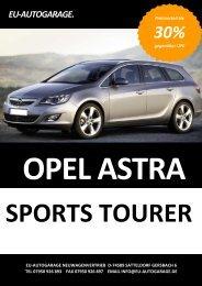 opel astra j sports tourer ( kombi ) neues modell ... - Eu-Autogarage