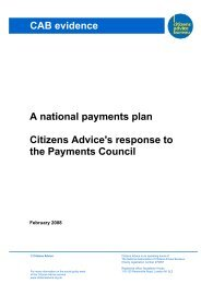 Citizens' Advice Bureau - Payments Council