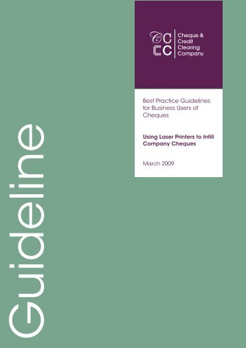 Best Practice Guidelines for Business Users of ... - Payments Council