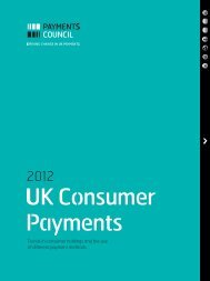 Trends in consumer holdings and the use of ... - Payments Council