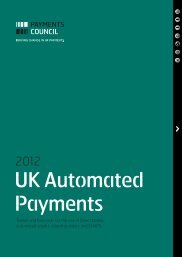 2012 UK Automated Payments - Payments Council