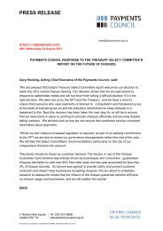 UK Payments Letter to Ms A Arunachalam ... - Payments Council