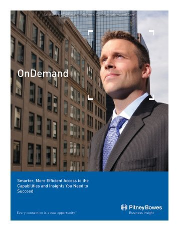 OnDemand Capabilities Brochure - Pitney Bowes
