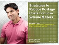 Strategies to Reduce Postage Costs For Low ... - Pitney Bowes