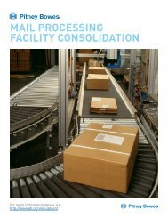 Mail Processing Facility consolidation - Pitney Bowes