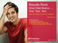 Results ROCK! Direct Mail Basics...Test, Test, Test - Pitney Bowes