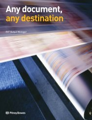 Any document, any destination - Pitney Bowes