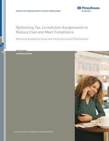 Optimizing Tax Jurisdiction Assignments to Reduce ... - Pitney Bowes
