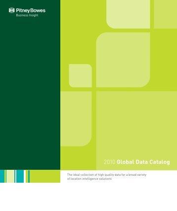 Global Data Catalog - Pitney Bowes