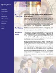 Mail Management Solutions Mail Management ... - Pitney Bowes