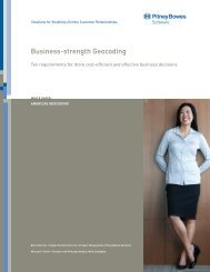 White Paper: Business-strength Geocoding. Ten ... - MapInfo
