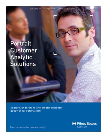 Portrait Customer Analytic Solutions - Pitney Bowes