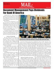 Document Management Pays Dividends For Bank Of ... - Pitney Bowes