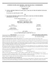 united states securities and exchange commission - Pitney Bowes
