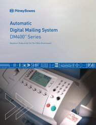 Automatic Digital Mailing System DM400TM Series - Pitney Bowes