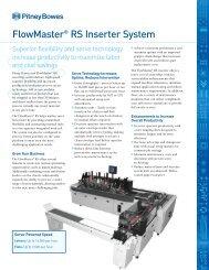FlowMaster® RS Inserter System - Pitney Bowes