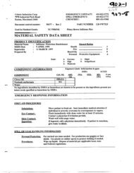 msds 902-1, inkleens-waterless handcleaner - Pitney Bowes