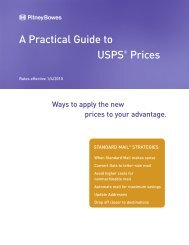 practical guide to usps prices - standard mail - Pitney Bowes