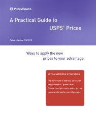 a practical guide to usps prices - extra services - Pitney Bowes