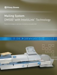 Mailing System DM500™ with IntelliLink™ Technology - Pitney Bowes