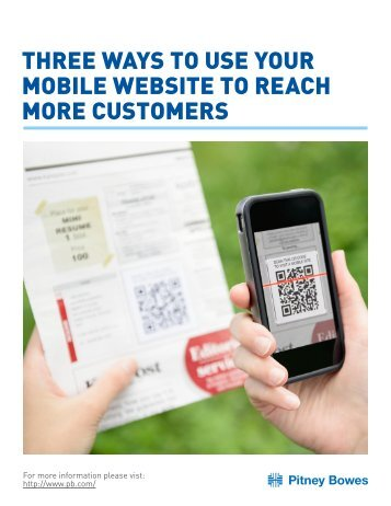 three ways to use your mobile website to reach more customers