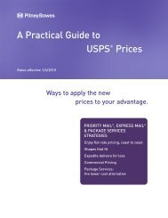 A Practical Guide to USPS® Prices - Pitney Bowes