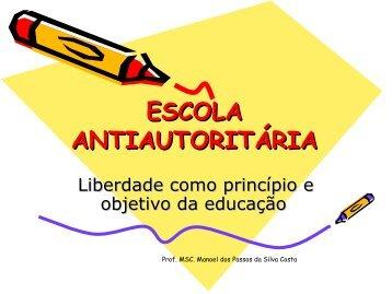ESCOLA ANTIAUTORITÁRIA - UTFPR