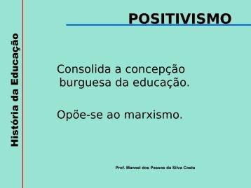 POSITIVISMO - UTFPR