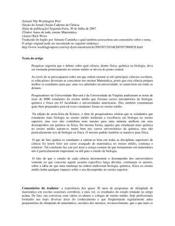 Estude matemática - UTFPR