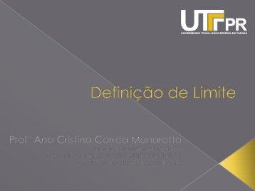 Slides: Definição de Limite - UTFPR