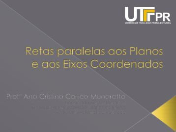 A reta - UTFPR