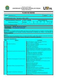 Download Plano de Ensino - UTFPR