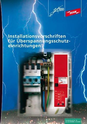 Installationsvorschriften für Überspannungsschutz - Dehn + Söhne ...