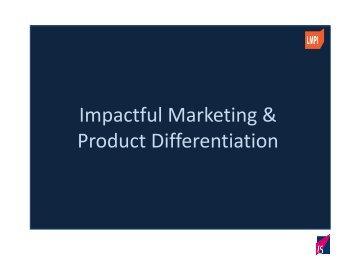 Impactful Marketing & Product Differentiation - Pbaa.net