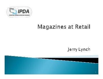 Selling Magazines at Retail - Jerry Lynch - Pbaa.net