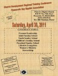 April 2011 - Pensacola Bay Baptist Association - Page 7