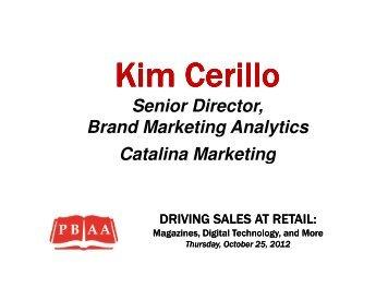 Senior Director, Brand Marketing Analytics Catalina ... - Pbaa.net