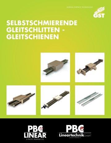 gleitschienen - PBC Lineartechnik GmbH