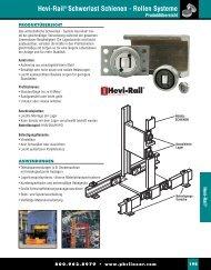 Hevi-Rail® Schwerlast Schienen - Rollen Systeme