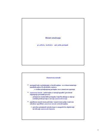 Metode istraživanja - PBF